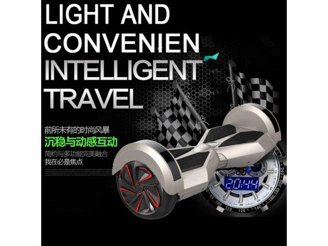 """Kolonožka Hoverboard Q5 Matrix Bílá s LED světly na blatnících 6,5""""  (gyroboard, smart balance wheel) doprava zdarma / podobná vozítku mini segway.."""