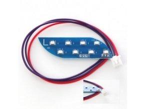 LED světlo levé a pravé (pár) pro hoverboard Q10 (gyroboard, smart balance wheel) / hoverboard je podobný známému vozítku mini segway