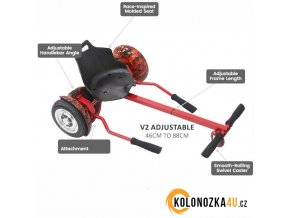 Hoverboard Buggy V2 - Hoverkart - rám se sedadlem (hovercart) černý