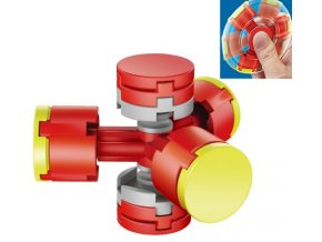 fidget spinner skladaci cerveny