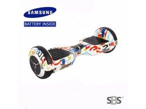 "Kolonožka Hoverboard Q3 7"" Graffiti 1 (gyroboard, gyroboard, smart balance wheel) doprava zdarma / podobná vozítku mini segway.."