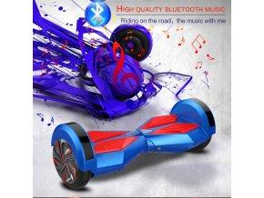 """Hoverboard Q5 Matrix Modrá s LED světly na blatnících 6,5"""" (gyroboard, smart balance wheel) doprava zdarma / podobná vozítku mini segway.."""