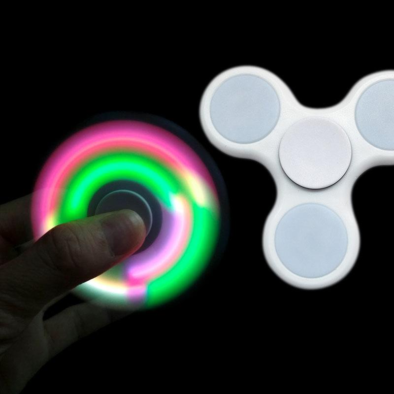 Fidget Spinner LED bílý 7cm (TOP KVALITA)