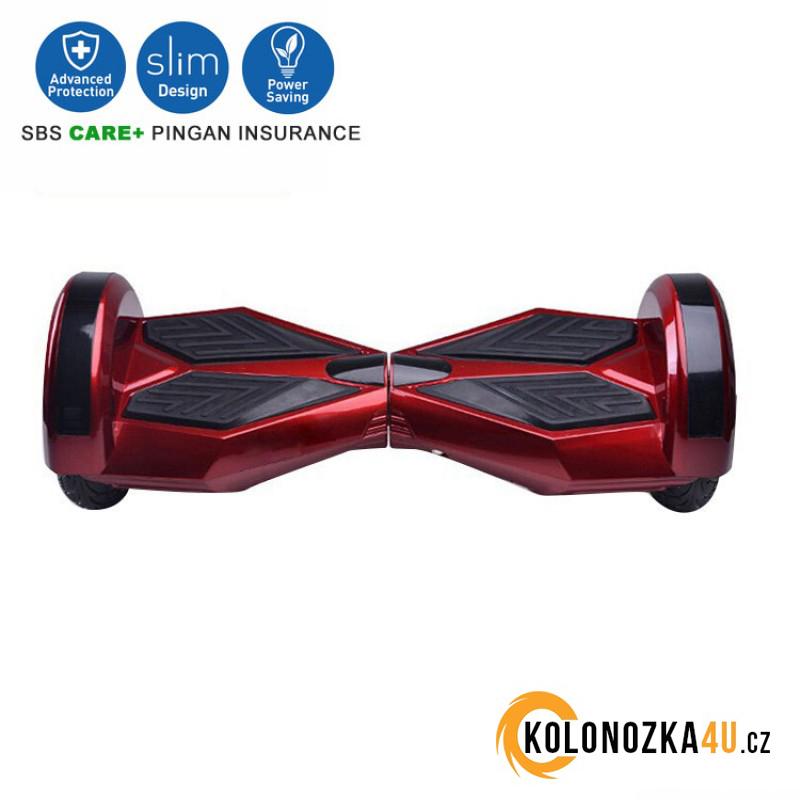 """Kolonožka Hoverboard Q5 Matrix Cherry s LED světly na blatnících 8"""" (gyroboard, smart balance wheel) doprava zdarma AKCE / podobná vozítku mini segway.."""