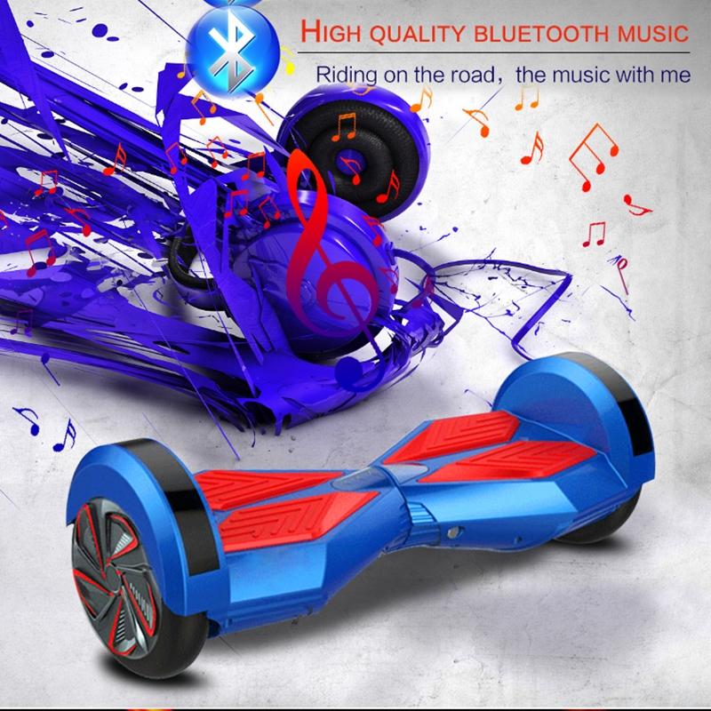 """Kolonožka Hoverboard Q5 Matrix Modrá s LED světly na blatnících 6,5"""" (gyroboard, smart balance wheel) doprava zdarma / podobná vozítku mini segway.."""