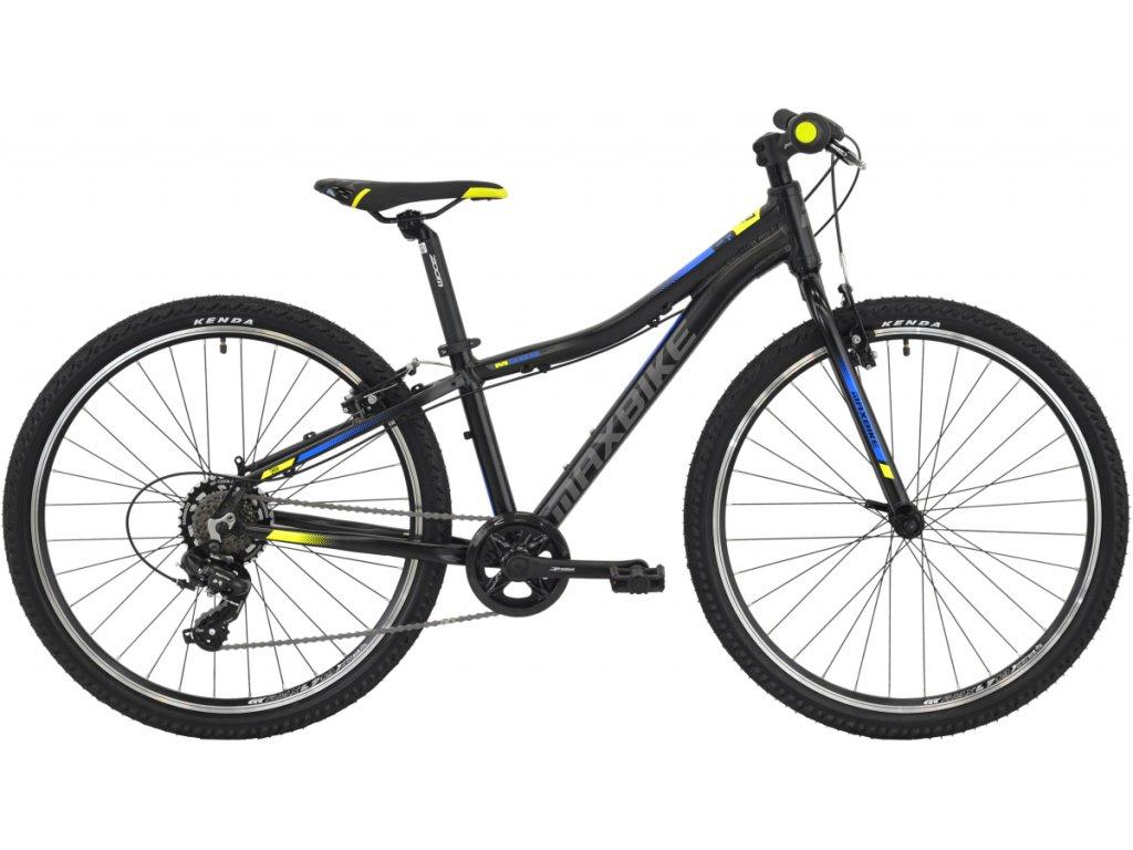 Maxbike Denali 26 černý matný + modro-žlutá