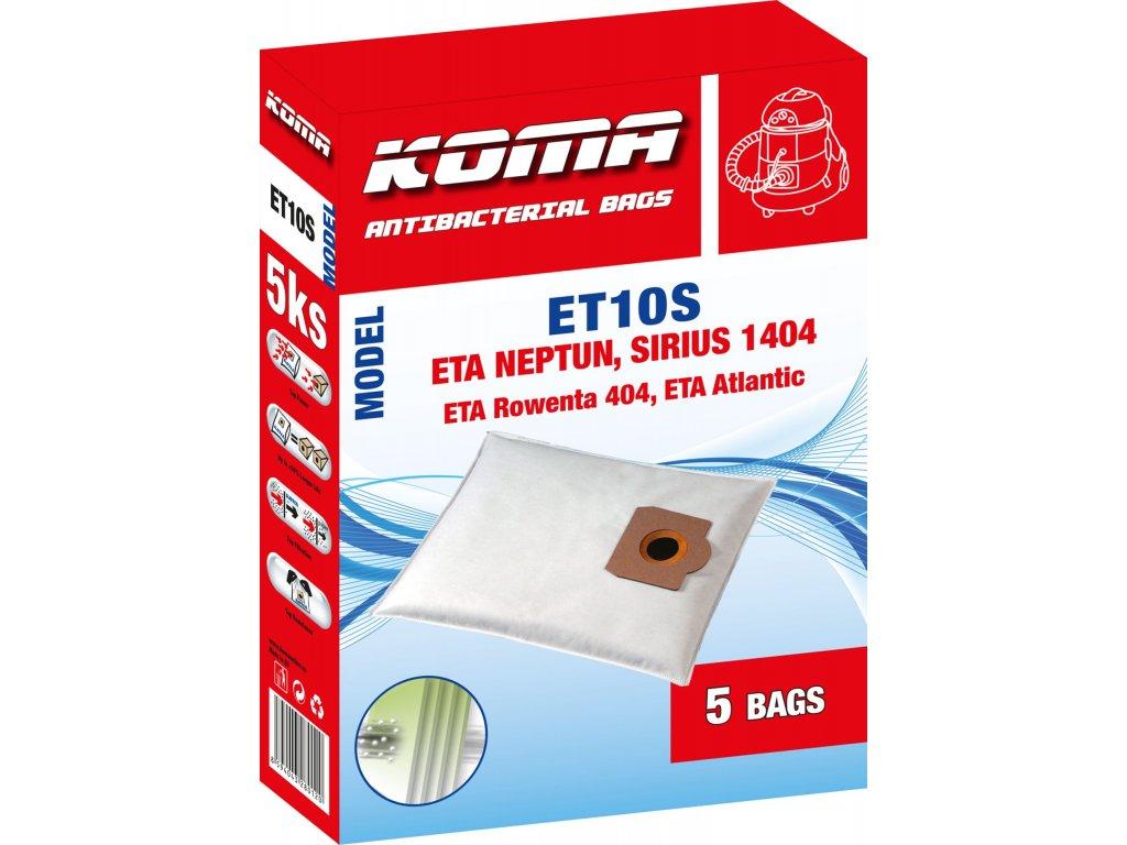 Koma ET10S - Sáčky do vysavače ETA Neptun 1404, 3404, Rowenta 0404 textilní