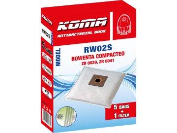 Koma RW02S - Sáčky do vysavače Rowenta Compacteo ZR 003901 textilní