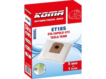 Koma ET18S - Sáčky do vysavače ETA Capolo 1473 textilní