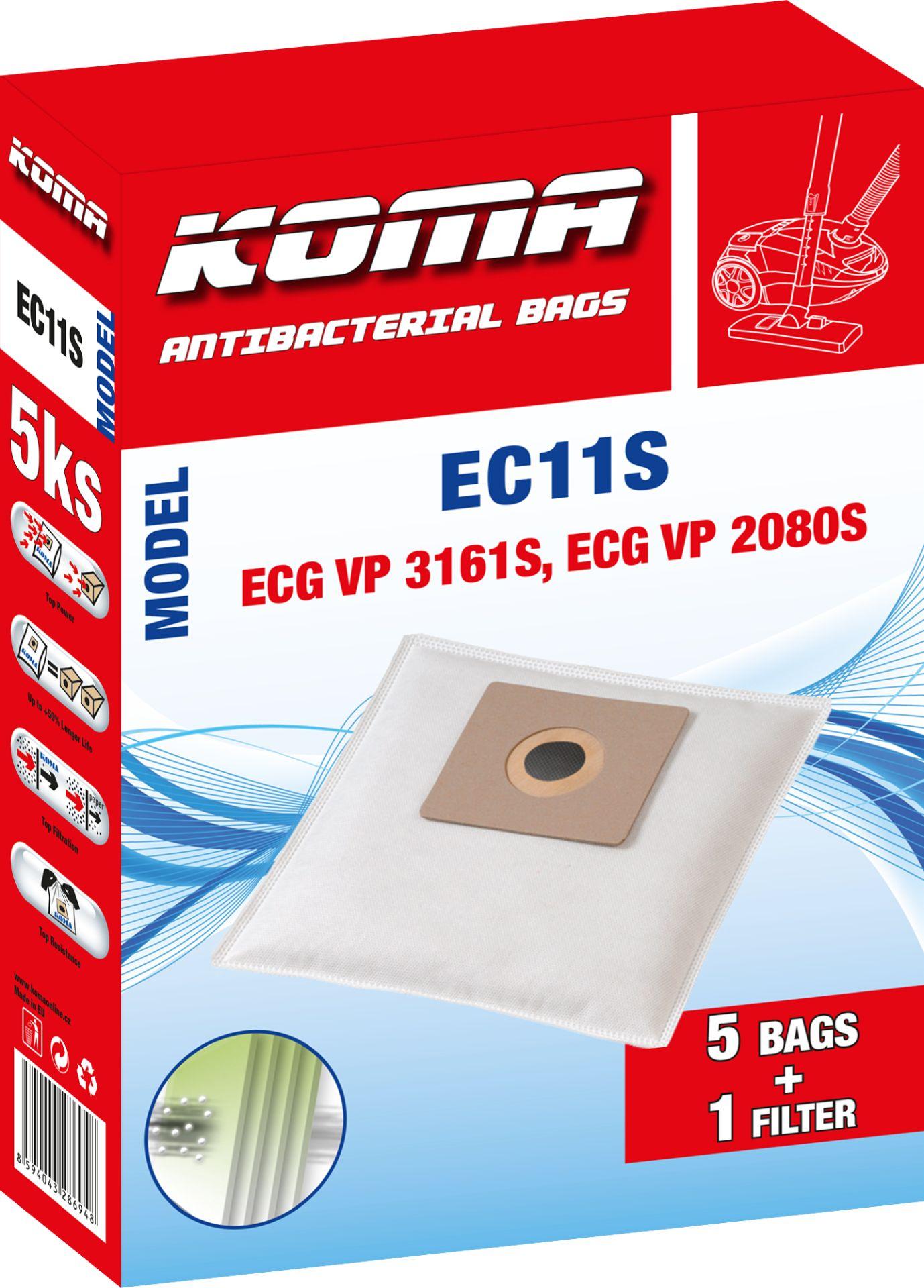 KOMA sáčky ECG VP 3161S textilní 5 ks + 1 mikrofiltr