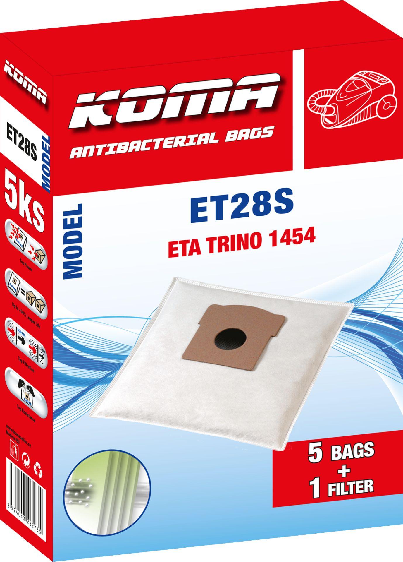 KOMA sáčky ETA Trino 1454 textilní 5 ks + 1 mikrofiltr Balení: Balení v PET sáčku