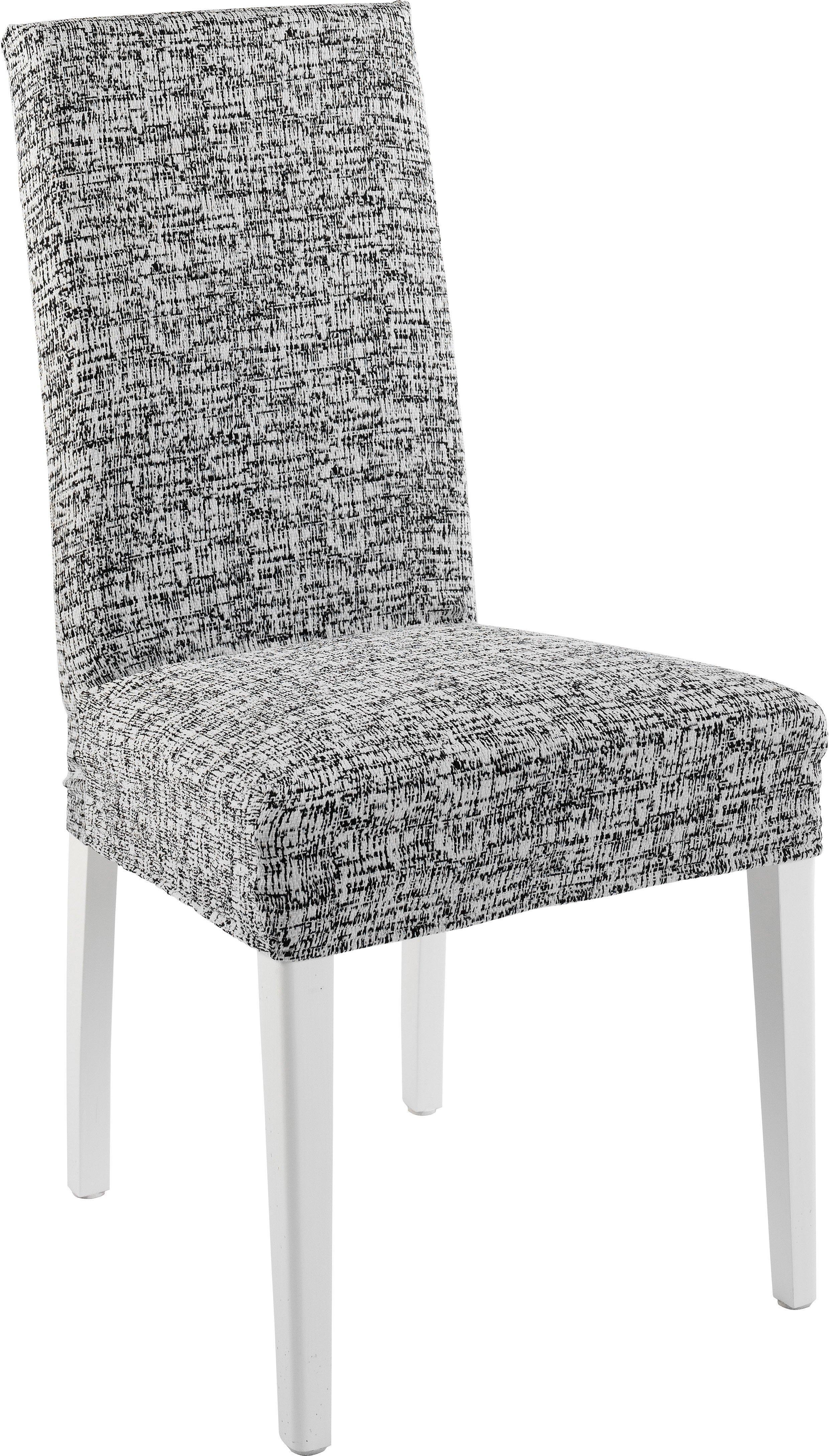 Levně Komashop Potah na židli CYPRUS Barva: Bílo-černá