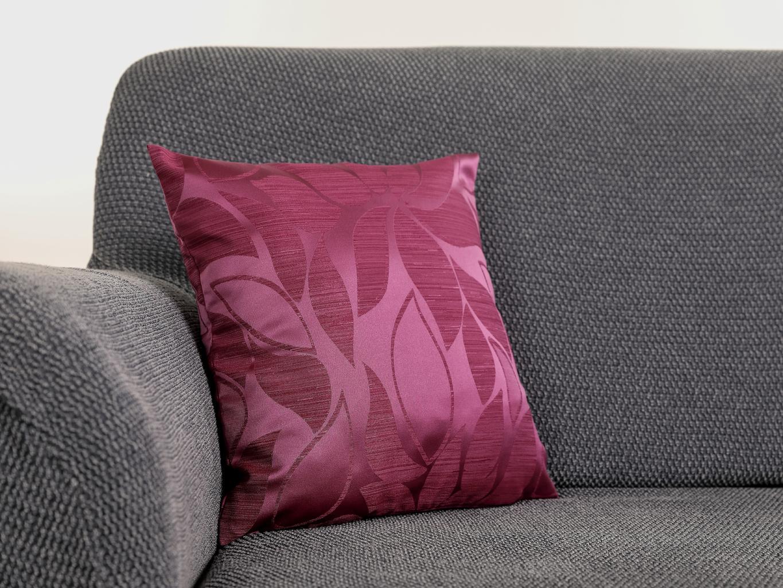 Povlak na polštář KAROLÍNA Barva: Fialová, Rozmer: 38 x 38 cm