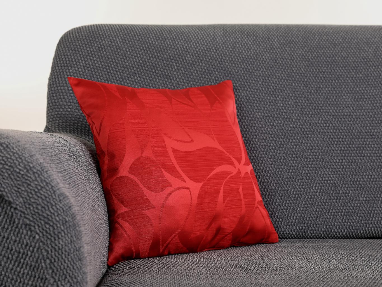 Povlak na polštář KAROLÍNA Barva: Červená, Rozmer: 38 x 38 cm