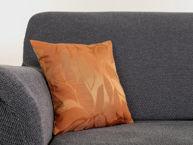 Povlak na polštář KAROLÍNA Barva: Oranžová, Rozmer: 38 x 38 cm