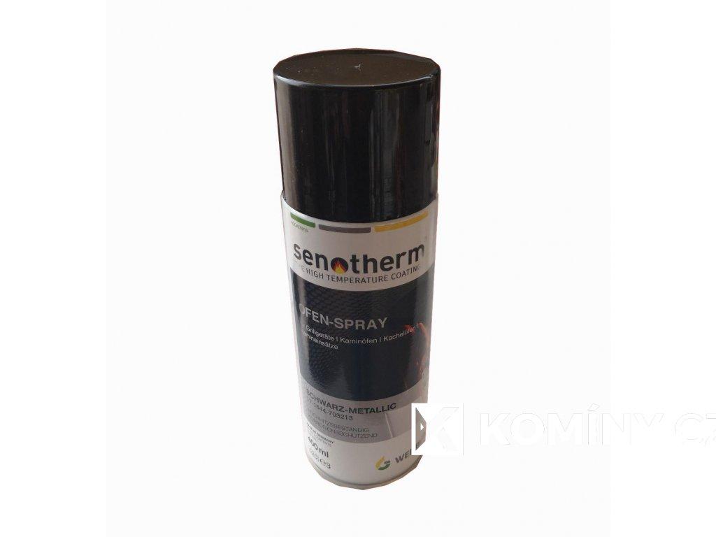 Spray opravný na kamna a kouřovinu Senoterm černý 400ml