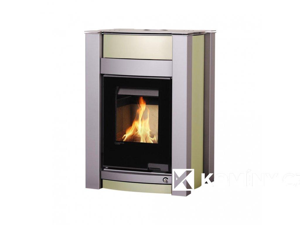 HS FLAMINGO AQUAFLAM VARIO ® KALMAR 11kW Olivová - metalická teplovzdušná verze