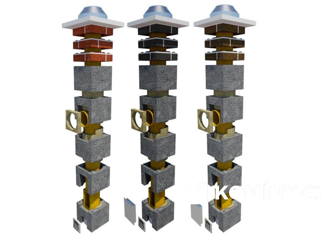 Komínová sestava 180mm-5m (3,5+1,5m TOP)