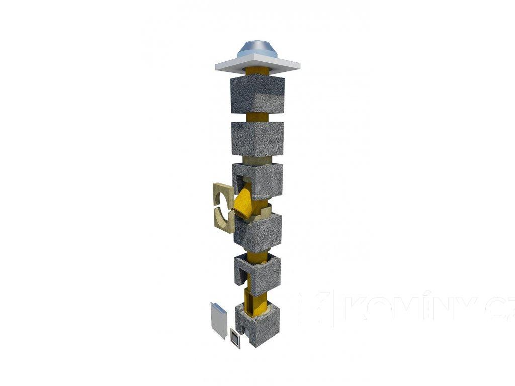 Komínová sestava 200-45°-9m OM