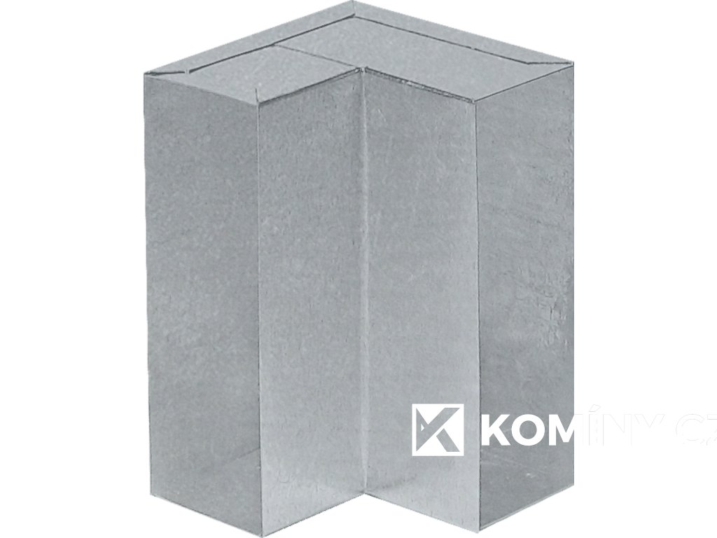 Kanál externího přívodu vzduchu 150x50mm koleno stěna-strop