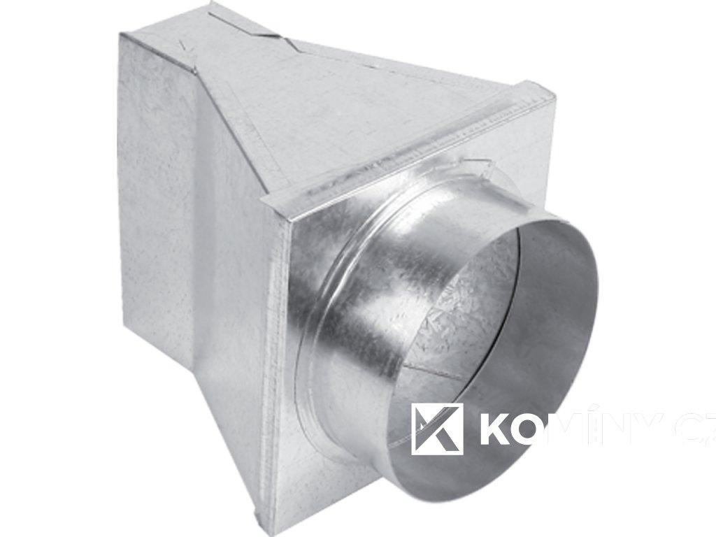 Kanál externího přívodu vzduchu přechod 180° 150x50/125mm