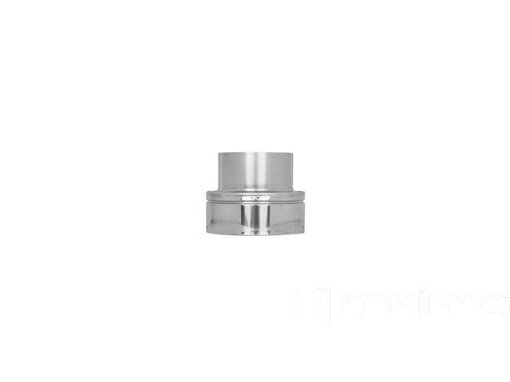 Přechodka nerez komín 150/25mm izolovaný/jednovrstvý