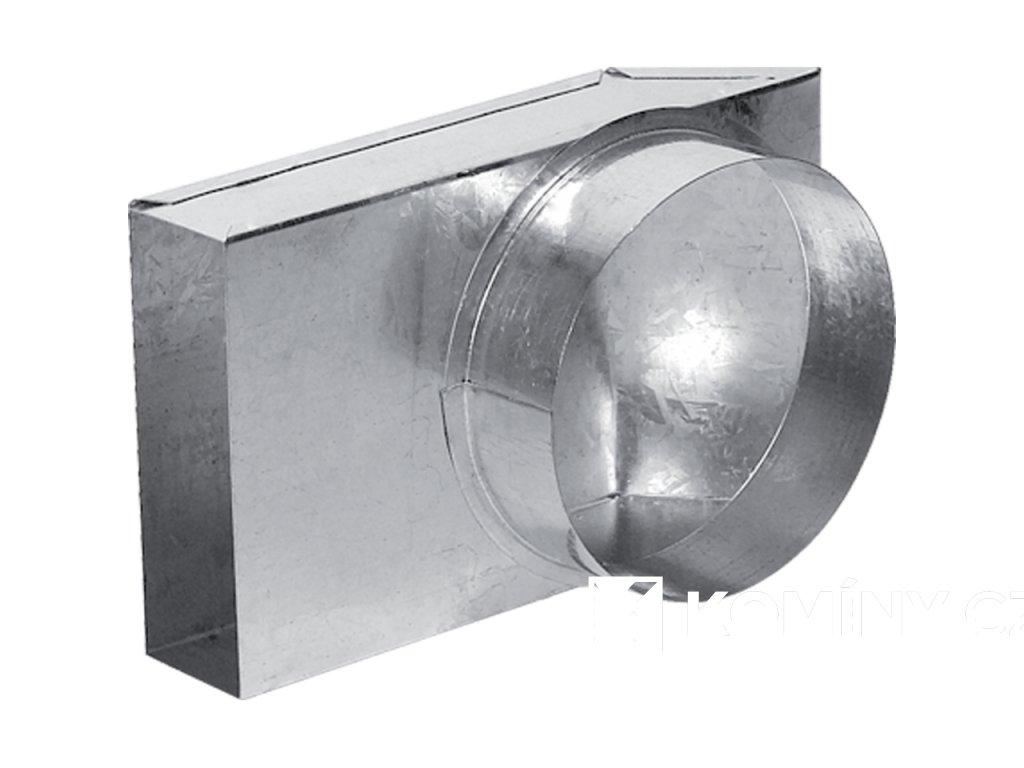 Kanál externího přívodu vzduchu přechod 90° 150x50/150mm
