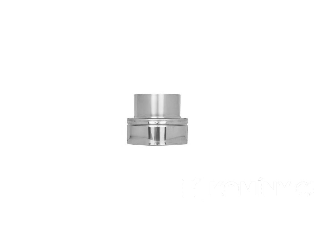 Přechodka nerez komín redukovaná 150-120/25mm izolovaný/jednovrstvý