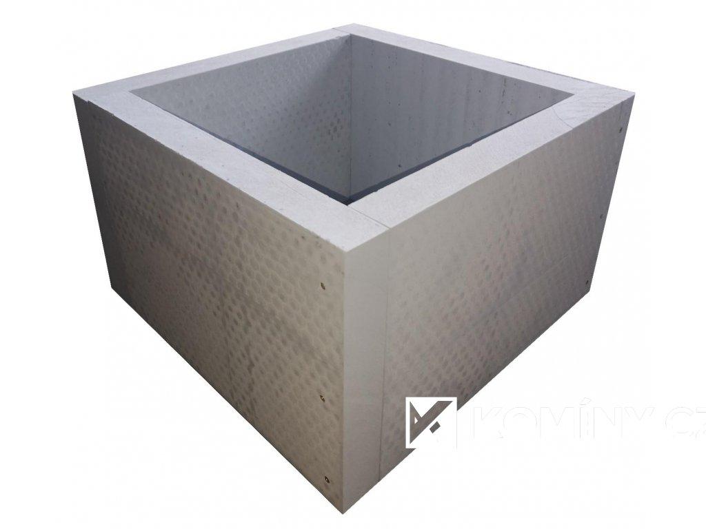 Průchodka izolací pro keramický komín 1 průduch výška 400 mm