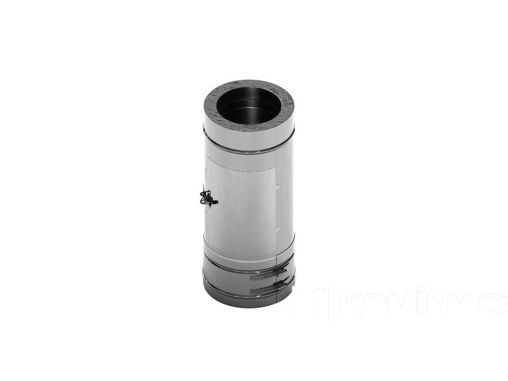 Čistící prvek nerezového komínu 200-500mm 0,5-25mm