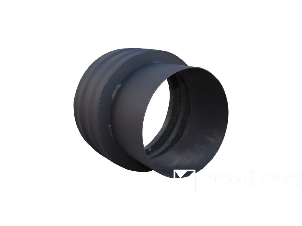 Komínová redukce černá 200/200mm