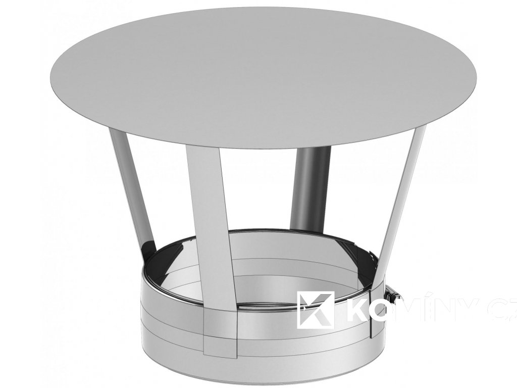 Stříška pro nerezový komín 200mm-izolace 25mm