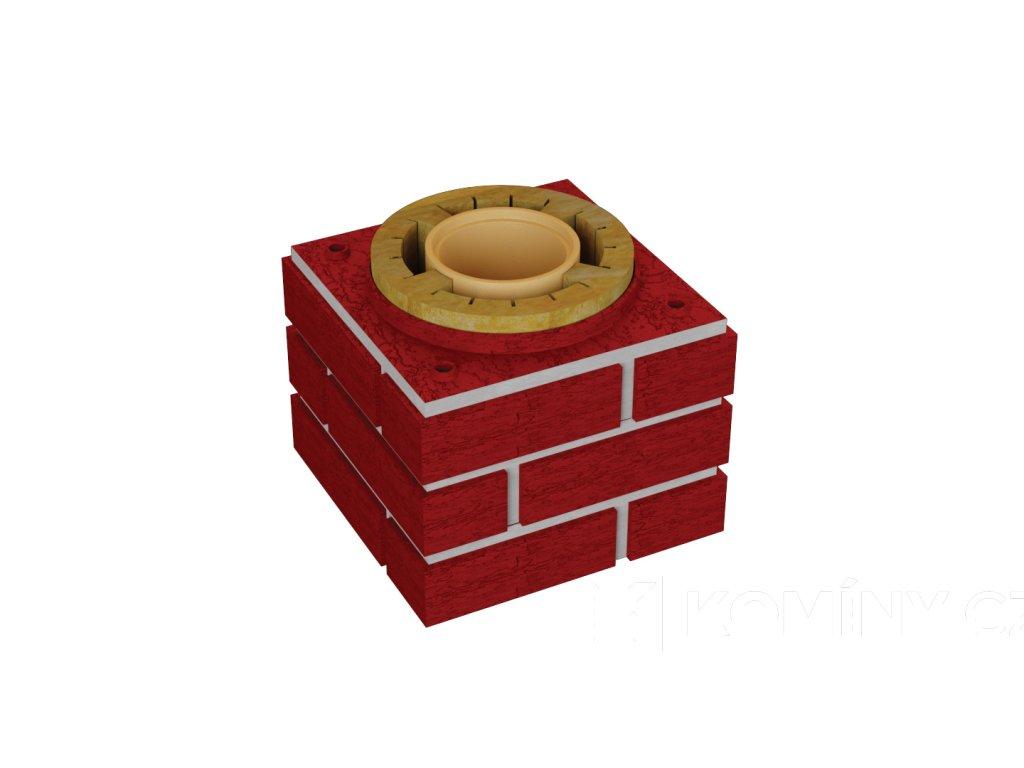 Sada pro navýšení prstenců DN 160-0,3 m červená