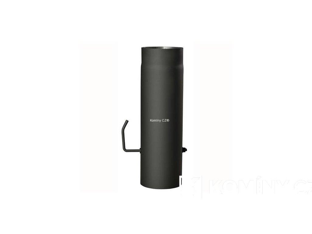 Kouřovod-trubka ke kamnům s klapkou 120/500/1,5