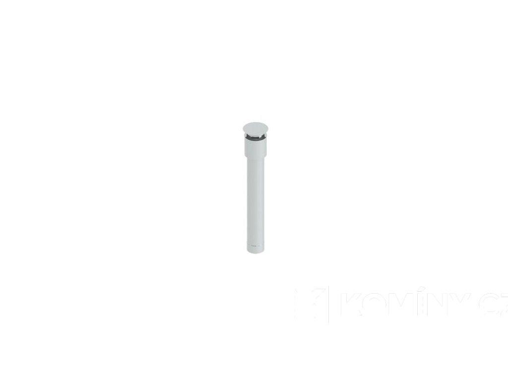 Terminál svislý nerez koncentrického komínu 80-125mm