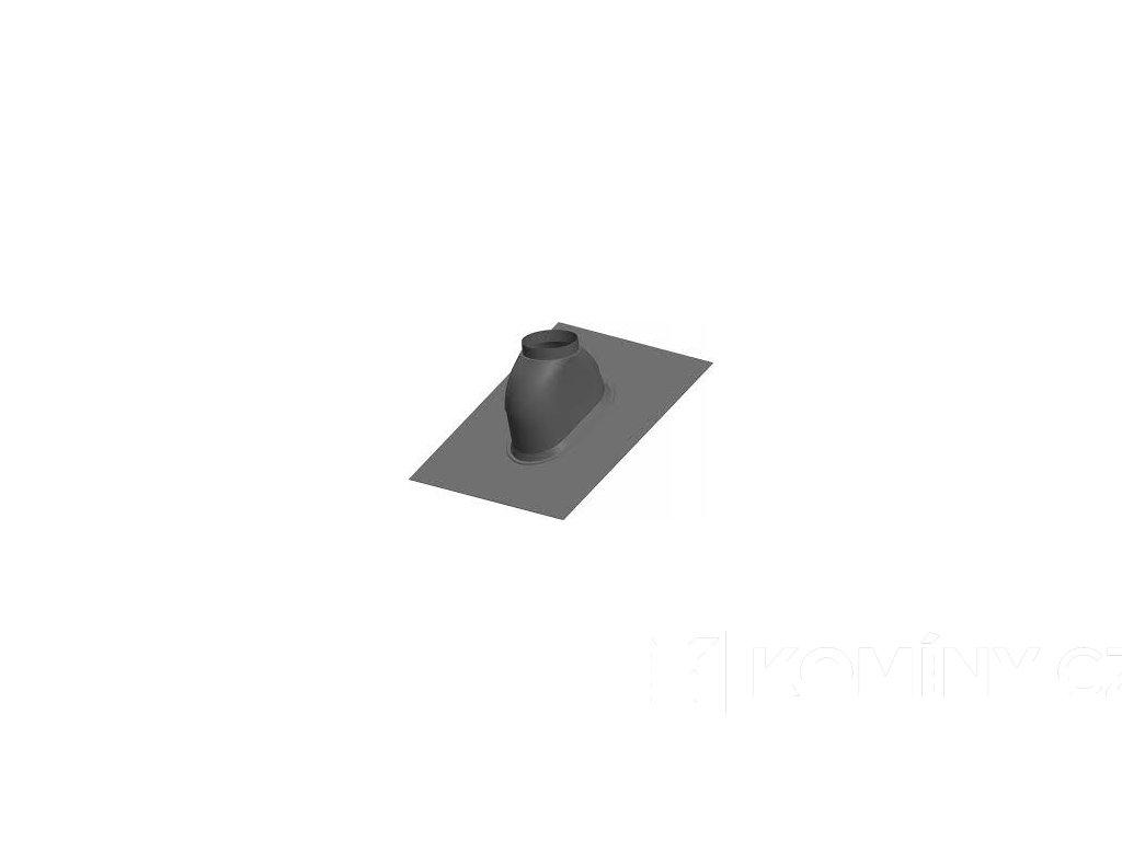 Střešní průchodka 0-48° černá Wakaflex koncentr.80/125