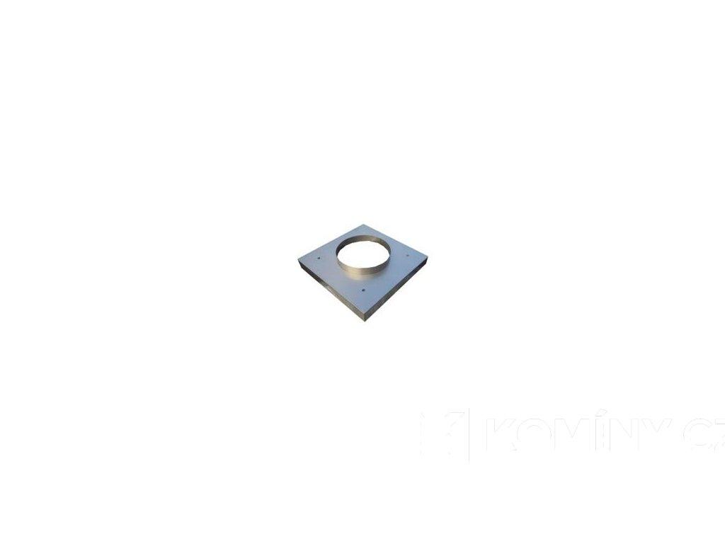 Komínová krycí deska nerezová 500x500mm otvor 180mm