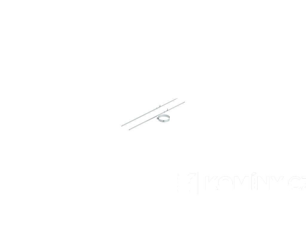 2-dílná upevňovací objímka se stavitelným trubkovým držákem do 2m