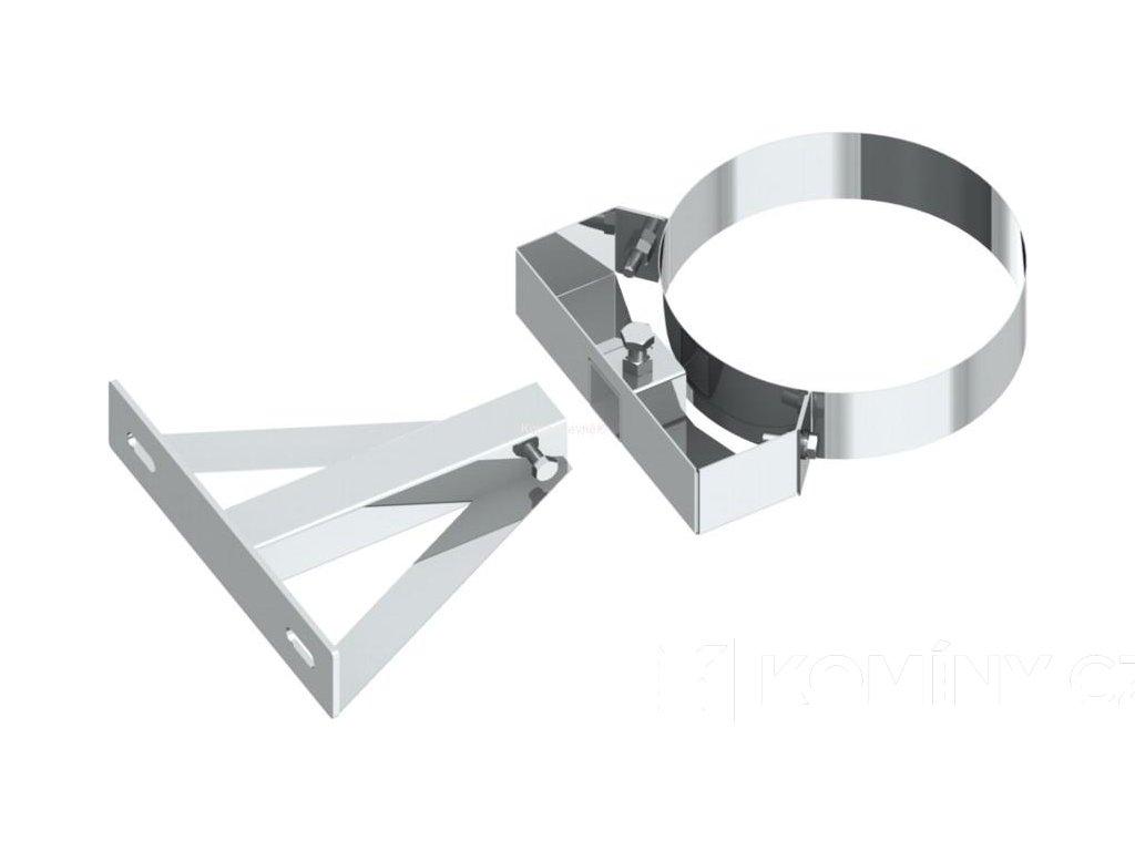 Odstup nastavitelný nad 360mm pro komín 150mm izolace 25mm