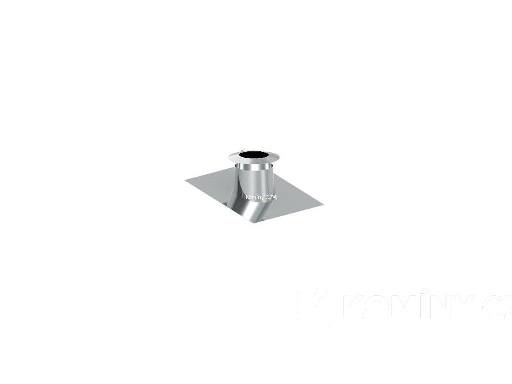 Průchodka nerezového komínu pro střechu 5°-15° s límcem 150-25mm izolace