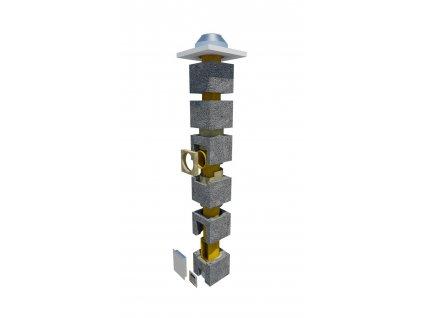 Komínová sestava 160 mm-3 m 90° OM