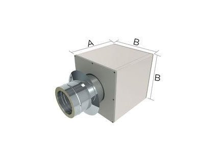 Stěnová průchodka š.120mm pro izolovaný komín 150/25mm izolace