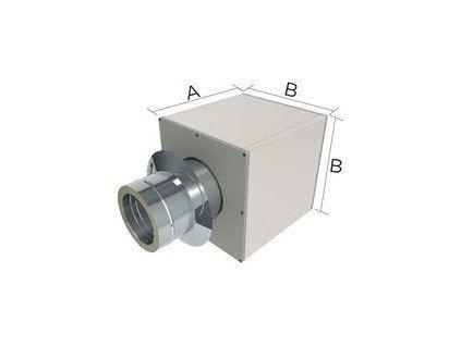 Stěnová průchodka š.120mm pro izolovaný komín 150/32,5mm izolace