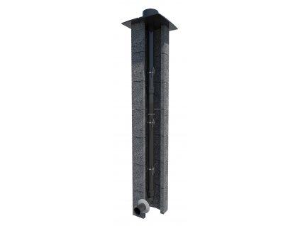 Komín pro kondenzační kotel PP 80mm-6m