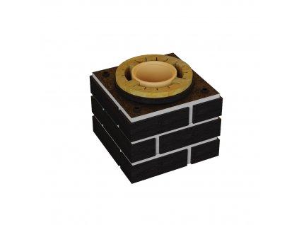Sada pro navýšení prstenců DN 160-0,3 m černá