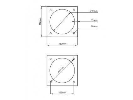 Komínová tvárnice TK1LB 380x380x330mm