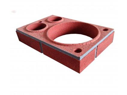 Prstenec barevny Vario cerveny