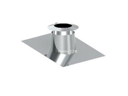 Průchodka nerezového komínu pro střechu 16°-25° s límcem 200-32,5 mm