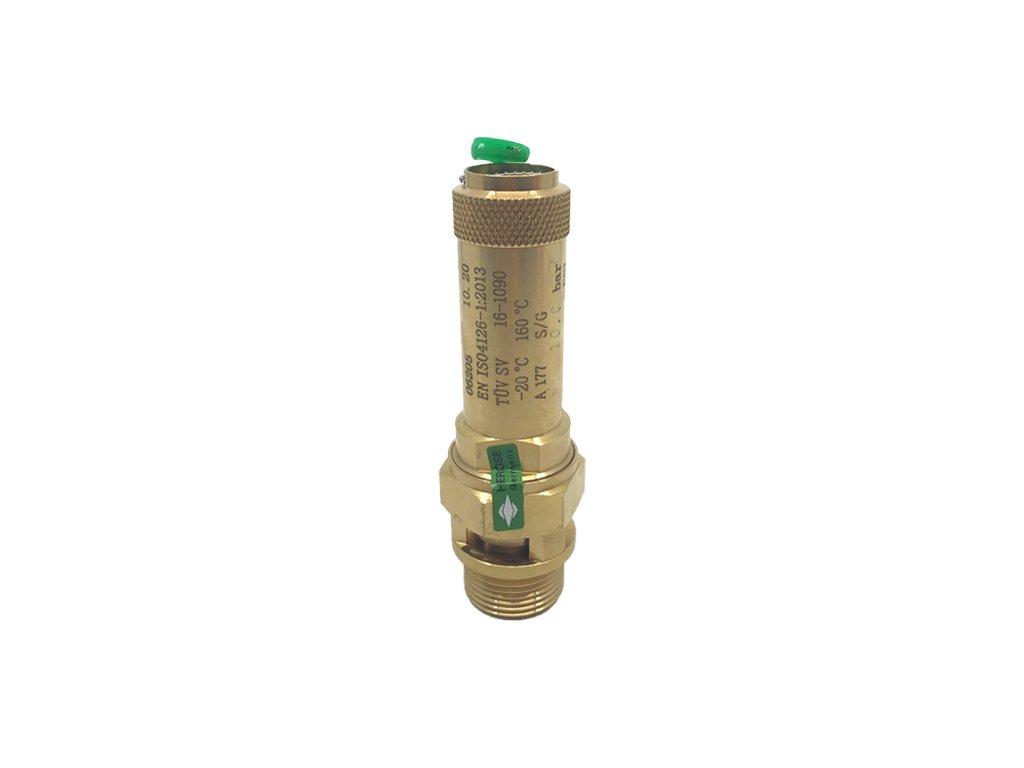 "V-Pojistný ventil HEROSE, G3/4"", 10 bar, sv. 15mm"