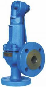 Pojistné ventily 6121 v přírubovém provedení z litiny